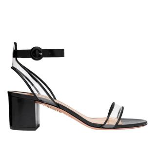 Aquazurra Leather & PVC Minimalist Sandals