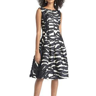 Oscar De La Renta Zebra Fil Coup� Dress - New Season