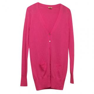 J Crew Pink Cashmere Cardigan