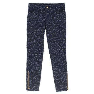 Louis Vuitton Printed navy Zip Detail Jeans
