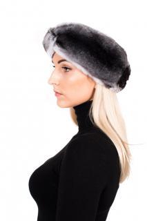 FurbySD Chinchilla Fur Head Warmer