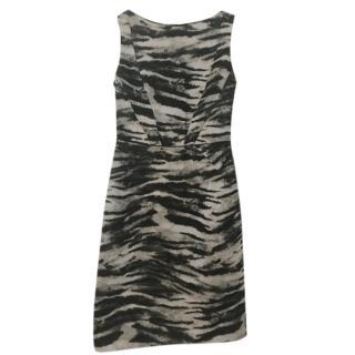 Lanvin Animal Print Sleeveless Mini Dress