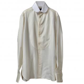 Ralph Lauren Collection silk bib-front tuxedo shirt