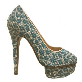 Charlotte Olympia Beaded Platform Dolly Pumps