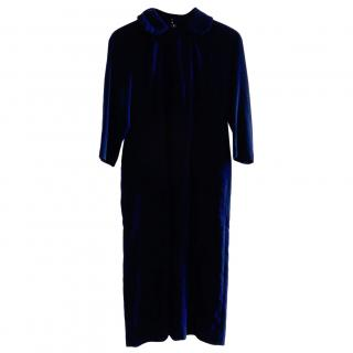 Comme Des Garcons Navy Velvet Dress