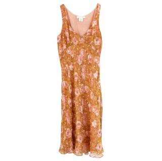 Collette Dinnigan Floral Silk Mini Dress