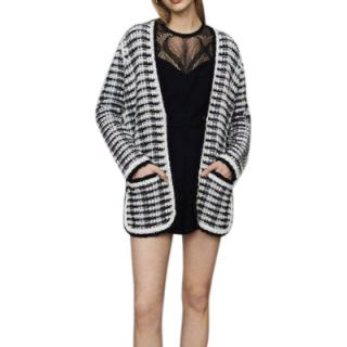 Maje Mitch Longline Tweed Cardigan