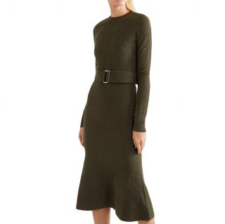 Victoria Beckham khaki midi dress