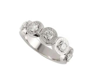 Versace Diamond Logo Ring