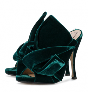 No.21 Velvet Bow Mules