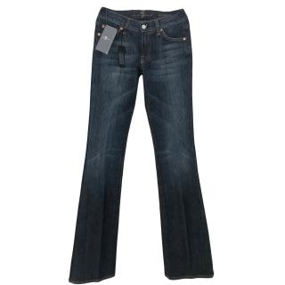 7 For all mankind dark blue flared jeans