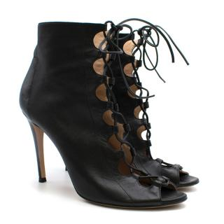 Gianvito Rossi Leather Lace-up Booties