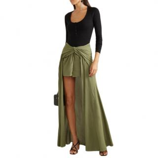 Jacquemus Le Souk Sahil Asymmetric Draped Crepe Skirt