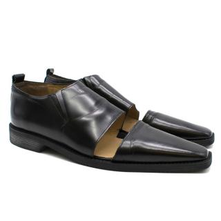 Comme Des Garcons Black Cut Out Oxford shoes