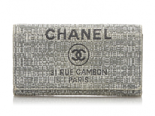 Chanel Deauville Woven Long Wallet