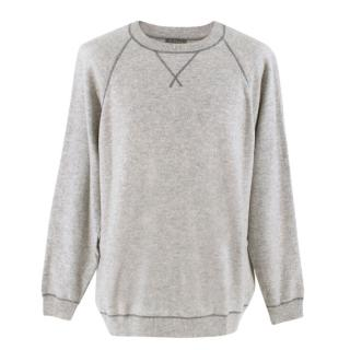 N.Peal Grey Cashmere Jumper