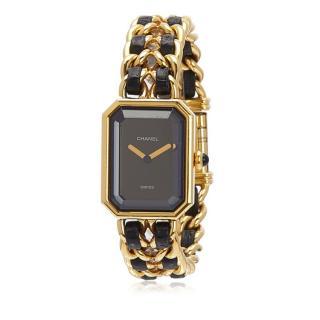 Chanel Gold Plated Quartz Premiere Chaine Watch