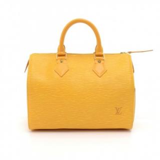 Louis Vuitton Yellow Epi Leather Speedy 25