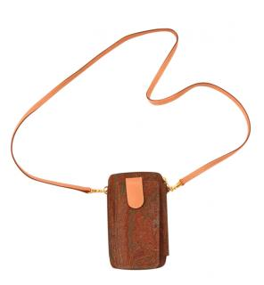 Etro Vintage Printed Mini Wallet/Phone Holder