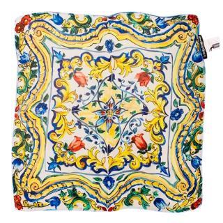 Dolce & Gabbana Majolica Print Silk Scarf