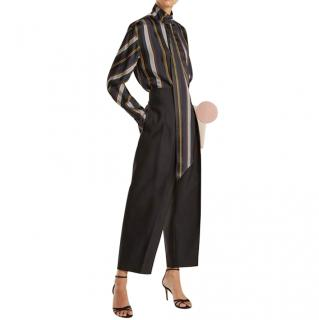 Roksanda Striped Asymmetric Mila Blouse