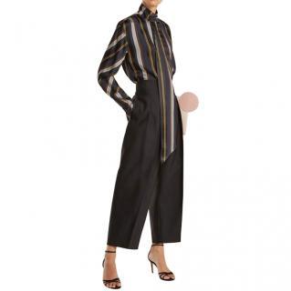 Roksanda Striped Asymmetric Mila Blouse