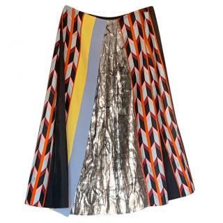 Emilio Pucci Multi-Print A-Line Skirt