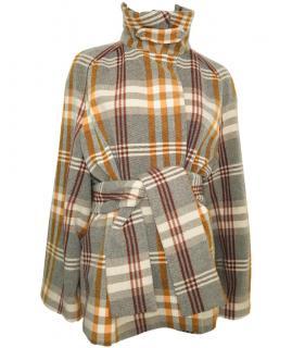 Joseph Plaid Wool Belted Coat