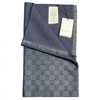 Gucci Monogram Reversible Wool Scarf