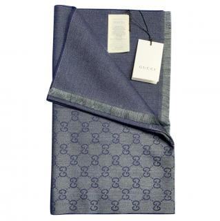 Gucci Monogram Reversible Wool Scarf