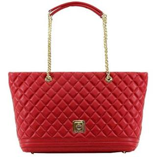 Love Moschino Quilted Red Shopper Tote