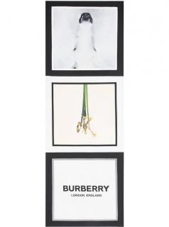 Burberry Montage & Logo Print Silk Scarf