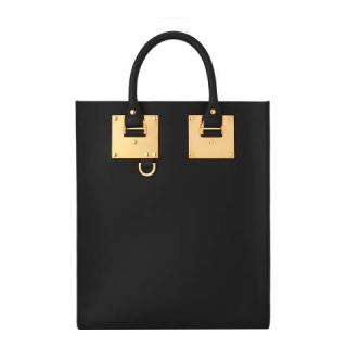 Sophie Hulme Black Leather Albion Tote