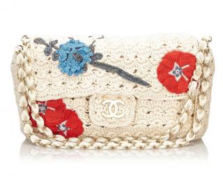 Chanel Camellia Crochet Flap Bag