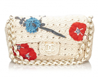 Chanel Camellia Crochet Flap Bag