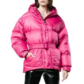 lenki Ienki Pink Michelin Quilted-down jacket