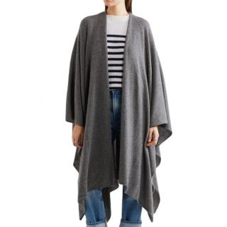 Madeleine Thompson Grey Cashmere Cape
