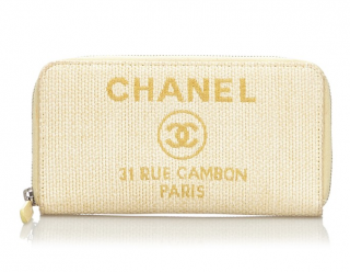 Chanel Deauville Long Woven Wallet