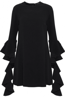 Ellery Kilkenny ruffle-trimmed crepe mini dress