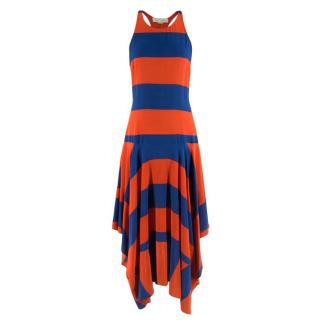 Stella McCartney Striped Red & Blue Sleeveless Dress