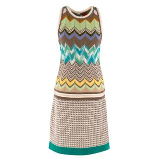 Missoni Knit Multi-Print Mini Dress