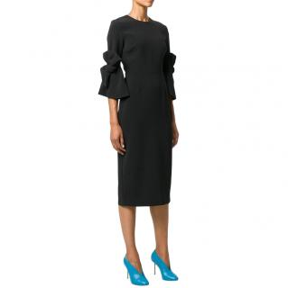 Roksanda Black Crepe Midi Dress