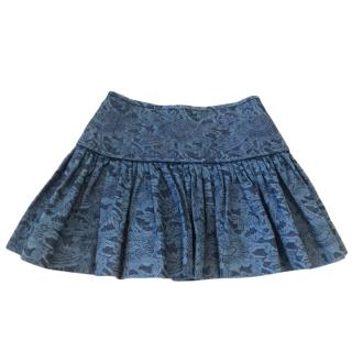 Isabel Marant Etoile Printed Denim Mini Skirt