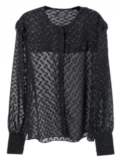 Isabel Marant Polka dot sheer blouse