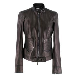 Versace Black Lightweight Leather Jacket