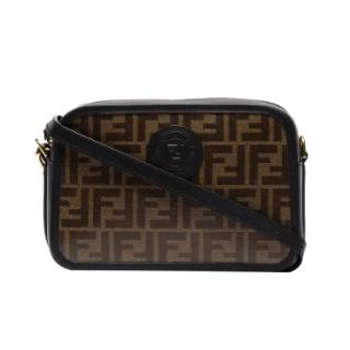 Fendi brown & black FF crossbody camera bag - new season