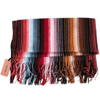 Missoni Multicoloured Zig Zag Knit Scarf