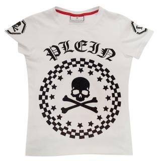 Philipp Plein Crystal Embellished Kids Skull Top