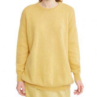 Max Mara Mohair & Wool Yellow Jumper