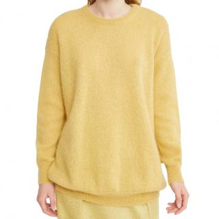 Max Mara Mohair & Wool Yellow Jumper